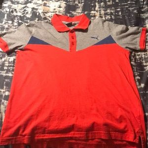 Red/Gray/Blue Puma Polo